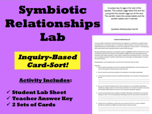 Printables Symbiotic Relationship Worksheet inquiry based learning symbiotic relationship lab teaching teachingrealscience